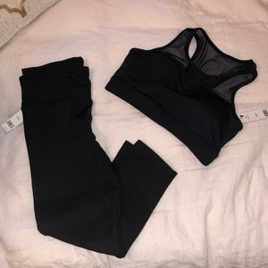 BCBG Mesh Panel Workout Set
